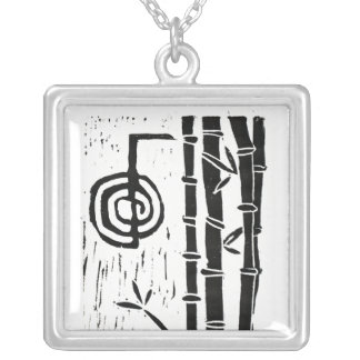 Cho Ku Rei and Bamboo Silver Plated Necklace