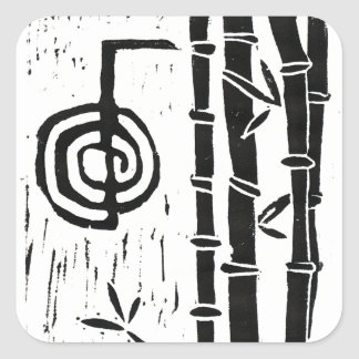 Cho Ku Rei and Bamboo Square Stickers