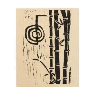 Cho Ku Rei and Bamboo Wood Wall Art