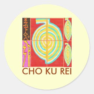 CHO KU REI - Reiki Pegatina Redonda