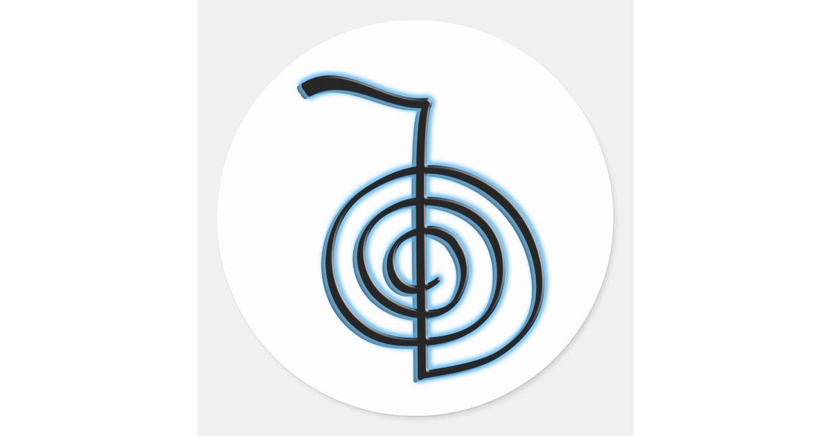 Cho Ku Rei Reiki Symbol Classic Round Sticker Zazzle