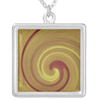 CHO KU REI Spirals - Reiki Master Creations Square Pendant Necklace