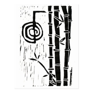 Cho Ku Rei y bambú Postal