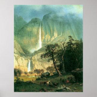 Cho-Looke,  Yosemite Watterfall by Bierstadt Poster