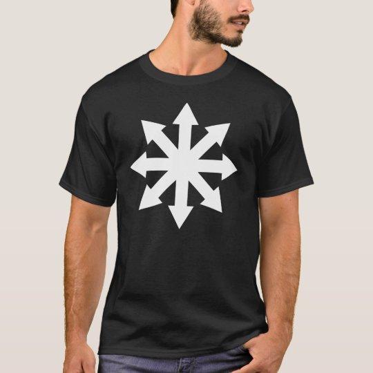 Choas Symbol on Black T-Shirt