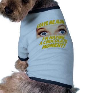 Choc 0001: Déjeme solo Camiseta De Perro