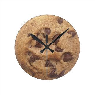 Choc Chip Cookie Round Wall Clock