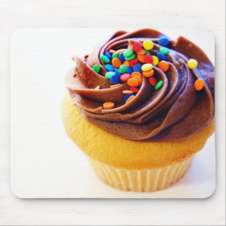 Choc frosted cupcake mouse pads