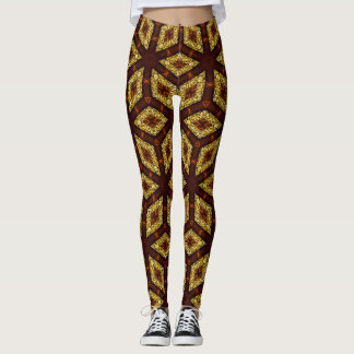 Choc Gold Root Chakra Pattern Leggings ★Psydefx★