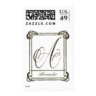 Choc & Green A Frame Stamp