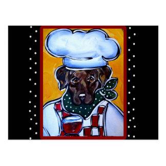 Choc Lab Chef Postcards