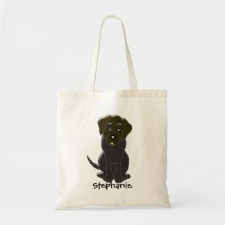 Choc Labrador Personalized Tote Bag