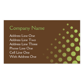 Choc Mint Abstract Double-Sided Standard Business Cards (Pack Of 100)