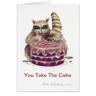 Chocalate Cake Birthday Card total indulgence
