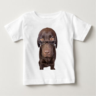 Choccy Lab in Glasses Baby T-Shirt