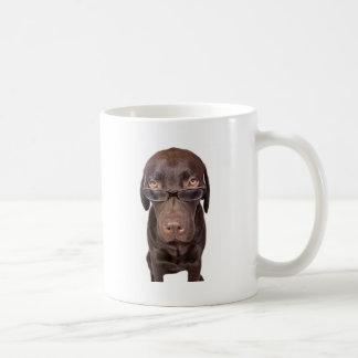 Choccy Lab in Glasses Coffee Mug