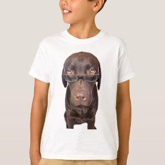 Choccy Lab in Glasses T-Shirt