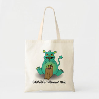 Chocholate candy monster candy sack tote bag