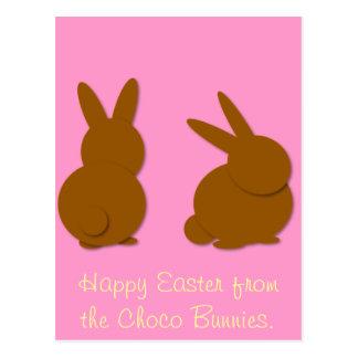 Choco Bunnies, Happy Easter from the Choco Bunn... Postcard