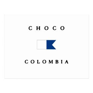 Choco Colombia Alpha Dive Flag Postcard