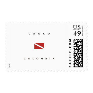 Choco Colombia Scuba Dive Flag Stamps