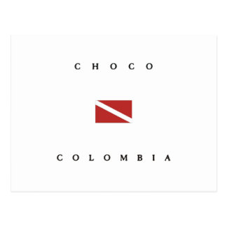 Choco Colombia Scuba Dive Flag Postcard