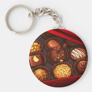 Choco de Bunny Basic Round Button Keychain