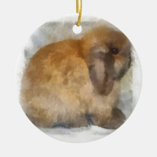 Choco Double-Sided Ceramic Round Christmas Ornament