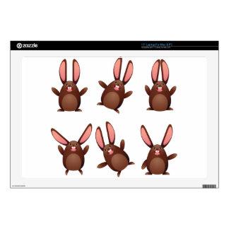 "Choco egg bunny 17"" laptop decals"