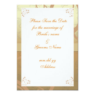 'Choco Elegance' Save the date card Custom Invite