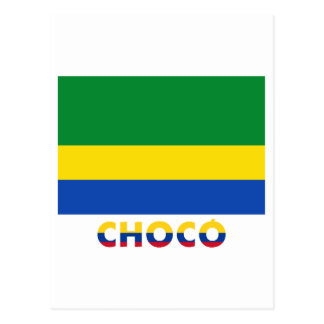 Chocó Flag with Name Postcard