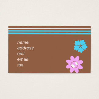 choco flowered card