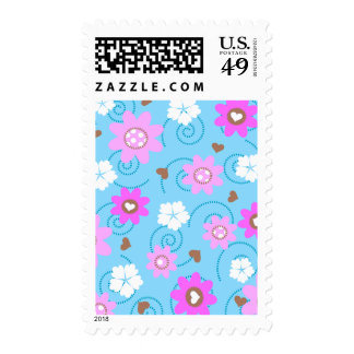 choco heart  floral. stamp