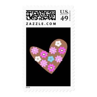 choco heart postage stamps