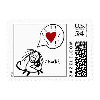 Choco Hug Postcard Stamp