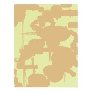 choco milk abstract art postcard