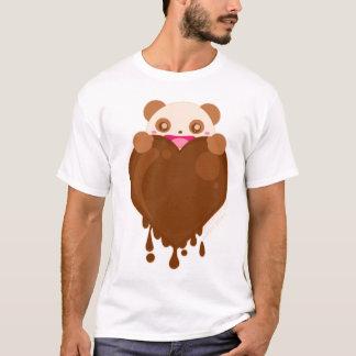 Choco Panda Heart T-Shirt