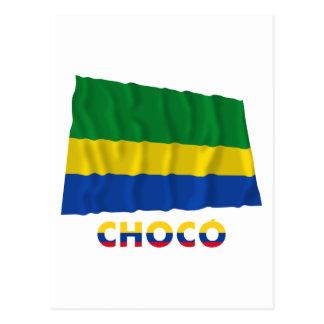 Chocó Waving Flag with Name Postcard