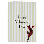 Chocoalte florece el el día de San Valentín francé Tarjeta De Felicitación