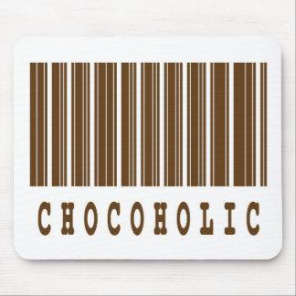 chocoholic barcode design mouse pad