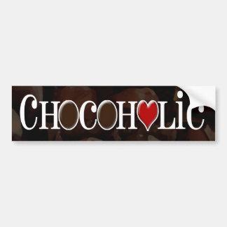 Chocoholic, Brown oscuro y diseño divertido del Pegatina De Parachoque