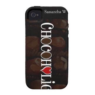 Chocoholic, Brown oscuro y diseño divertido del iPhone 4 Carcasas