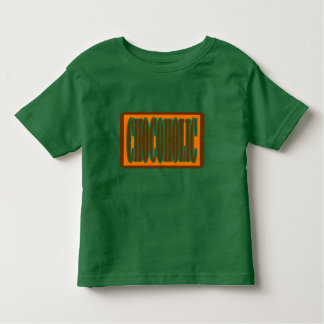 Chocoholic, Candy Bar Wrapper Style Toddler T-shirt