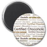Chocoholic certificado imán de nevera