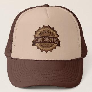 Chocoholic Chocolate Lover Grunge Badge Brown Logo Trucker Hat
