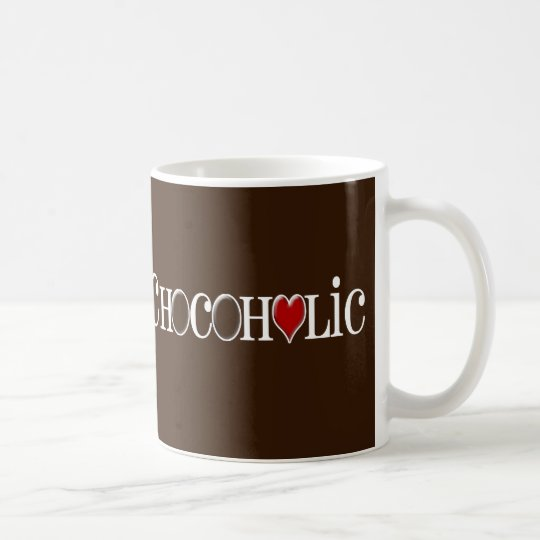 Chocoholic, Chocolate Lover with Red Heart Coffee Mug