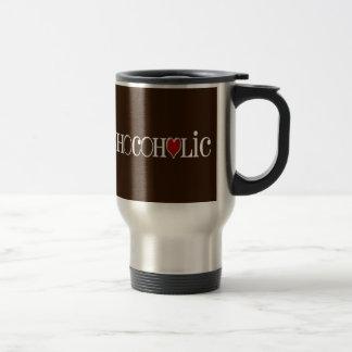 Chocoholic, Chocolate Lover with Red Heart Coffee Mugs