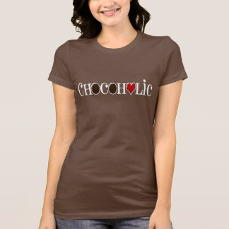 Chocoholic, Chocolate Lover with Red Heart T-shirts