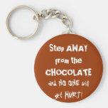 Chocoholic Chocolate Warning Basic Round Button Keychain
