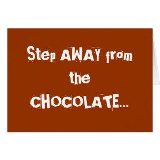 Chocoholic Chocolate Warning Card